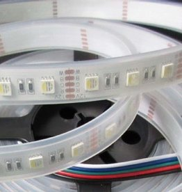 LED Strip Flexibel RGB-WW 4 in 1 chip 60 LEDs/m Waterdicht IP68 per 50cm