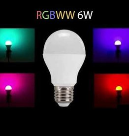Lampadina LED RGB-WW WiFi E27 230V 6 Watt