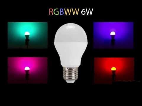 E27 Wifi RGBWW LED Lamp 6W