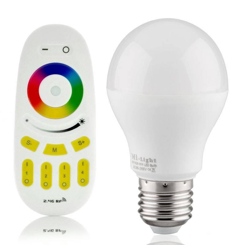 lampadina watt : Lampadina LED RGB-WW WiFi E27 230V 6 Watt - BuyLEDStrip.com