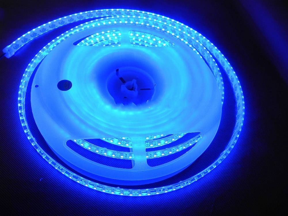 LED Strip Blue 120 LED/m Waterproof - per 50cm