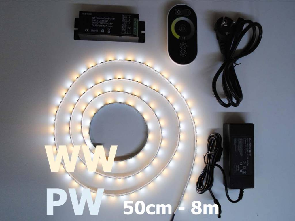 White / Warm White Adjustable LED Strip 60 LED/m Set