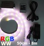 RGB-WW LED Strip 60 LED/m Set Complete