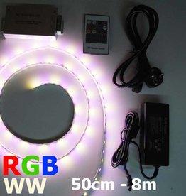 Bande LED RVB-WW 60 LED/m Kit