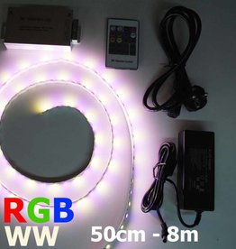 Striscia LED RGB-WW 60 LED/m Set completo