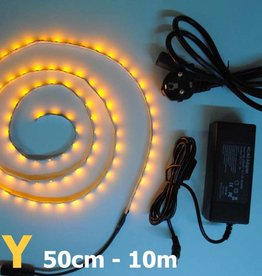 Bande LED Jaune 60 LED / m Kit