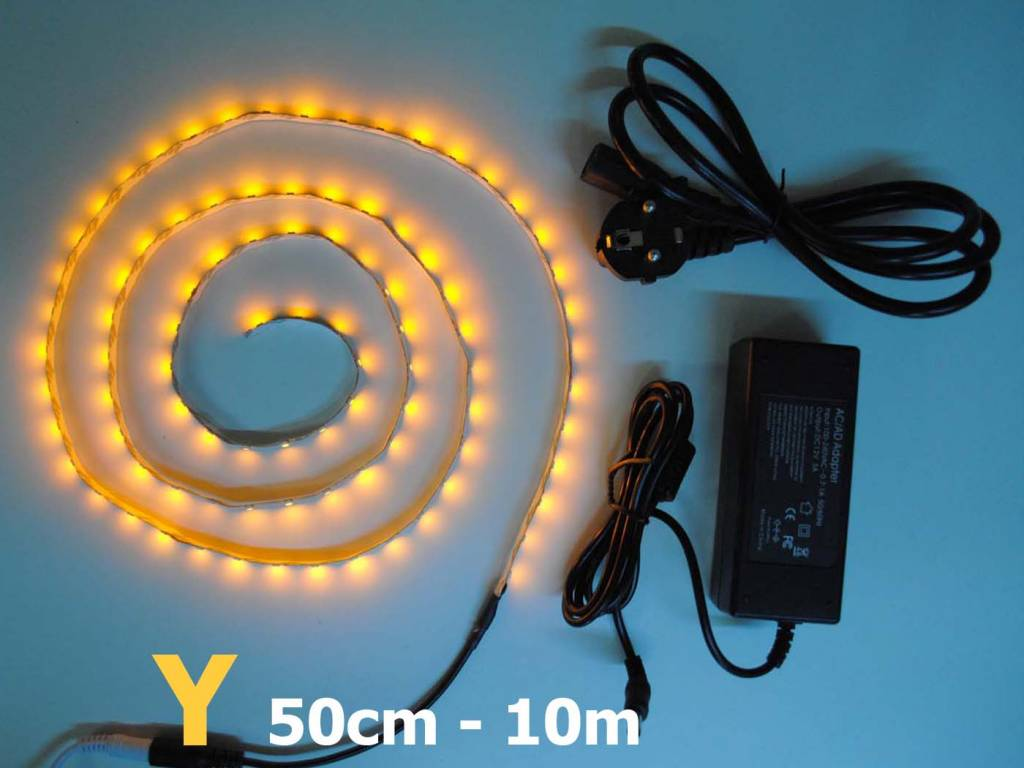 Amarillo / ámbar 60 LED / m completa