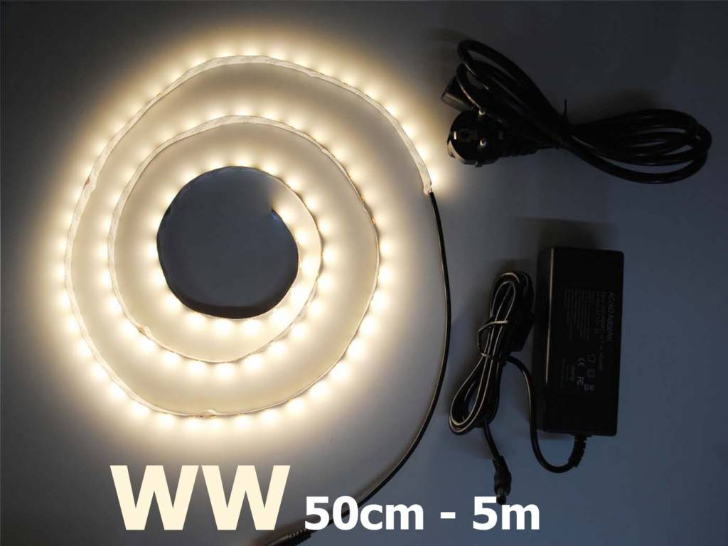 Bande LED Blanc Chaud 5630 60 LED / m Kit
