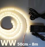 Bande LED Blanc Chaud 5050 60 LED / m Kit