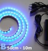 Bande LED Bleu 60 LED / m Kit