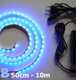 Bande LED Bleu 60 LED / m Kit