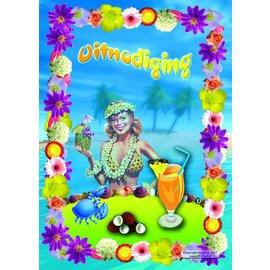 Uitnodigingen Tropisch feestje (8st)