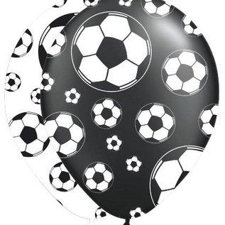 Voetbal ballonnen zwart/wit (8st)