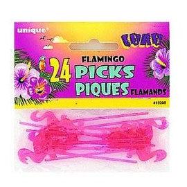 feest prikkers tropisch flamingo (24st)