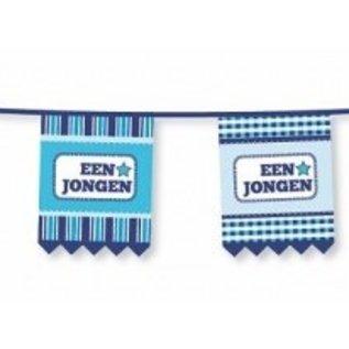 """Kartonnen vlaggenlijn """"een jongen"""""""