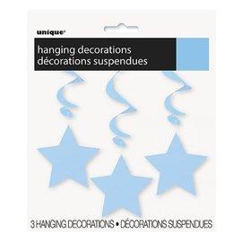 Swirl Hangdecoratie (blauw) 3st.
