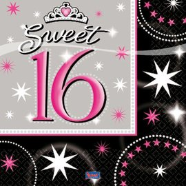 Servetten Sweet Sixteen (16st)