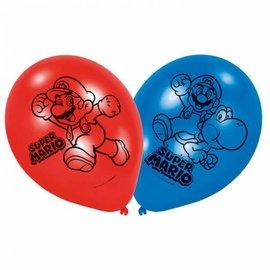 Ballonnen Super Mario (6st)