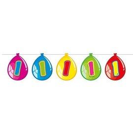 Vlaglijn 1 jaar (balloons)