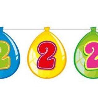 Vlaglijn 2 jaar (balloons)