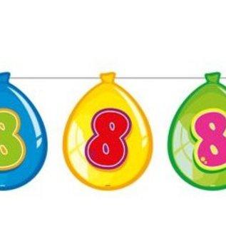 Vlaglijn 8 jaar (balloons)