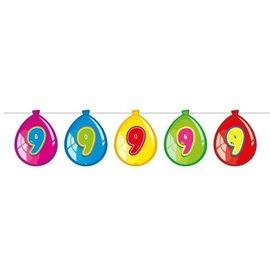 Vlaglijn 9 jaar (balloons)