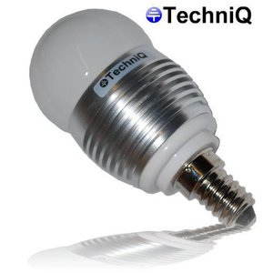 TechniQ Ledlamp G45 E14 3W (> 25 W) warm wit, kleine fitting