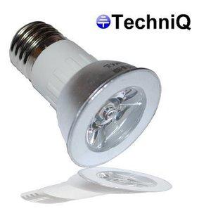 TechniQ Ledlamp E27 SP1W spot 1W (> 7.5 W) warm wit, grote fitting