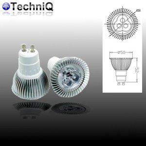 TechniQ Ledspot GU10 3 Watt warm wit (>25W)
