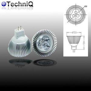 TechniQ Ledspot MR16 3 Watt warm wit (>25W)