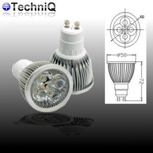 TechniQ Ledspot GU10 5 Watt warm wit (>40W)