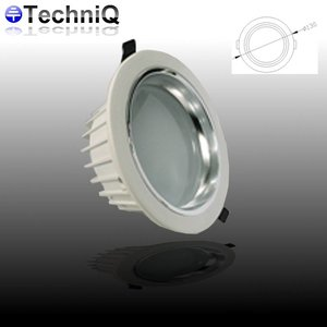 TechniQ Downlight ledspot 9 watt, warm wit, inbouw
