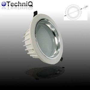 TechniQ Downlight ledspot 12 watt, warm wit, inbouw