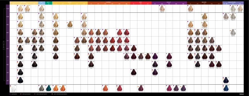Kadus Kadus Hair Color Colour Chart Hair And Beauty Online