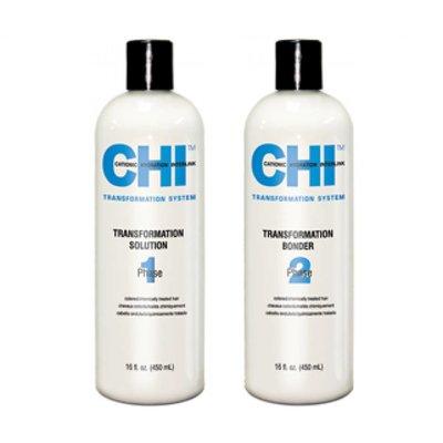 CHI Transf. Solution + Bonder Phase 1 Formula B Color Hair Chemically