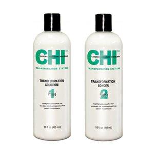 CHI Transf. Solution + Bonder Étape 1 formule C de beaux cheveux poreux