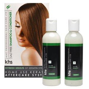 KHS Keratin Home System Senza sale Shampoo e Conditioner 2 x Kit 200ml