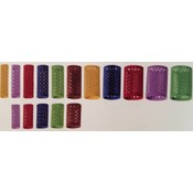 KSF Velvet Rollers 12 Pieces - 65mm Long - 18mm - Red