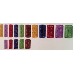 KSF Velvet Rollers 12 stykker - 65mm lange - 18mm - Rød
