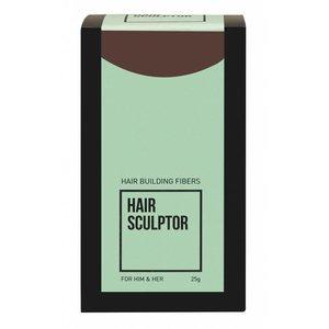 Hair Sculptor Fibras de construção do cabelo escuro