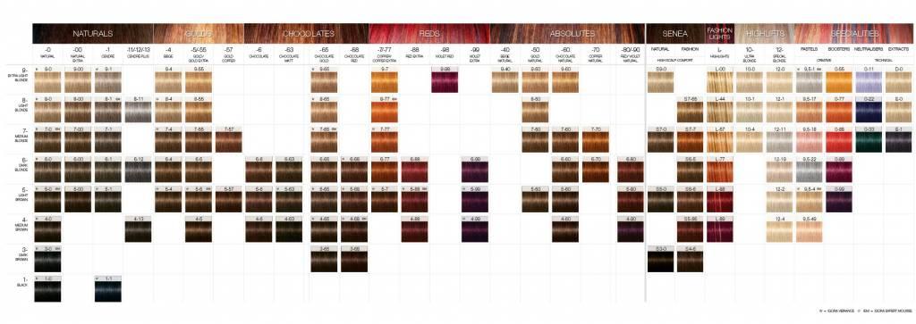 igora royal colour chart: Schwarzkopf igora royal color card