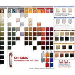 CHI Ionic Color Card