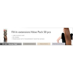Balmain extensions fill-in Value Pack 55 cm naturelles droite