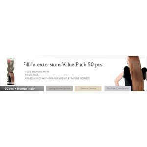 Balmain Fill-in extensions Value Pack Natural Straight 55 cm