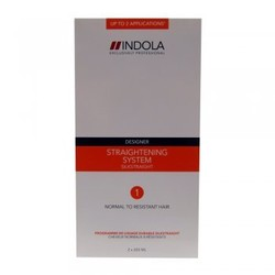 Indola Designer Straightening System 1 Normal to Resistant Hair