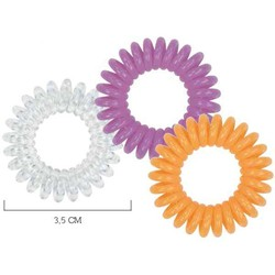 Spiradelic Elastici per capelli trasparente, viola, arancione