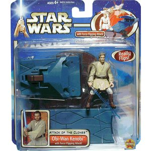 Star Wars - Obi-Wan Kenobi w / Force Attack Flipping!