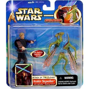 Star Wars - Anakin Skywalker with Lightsaber Slashing Action!