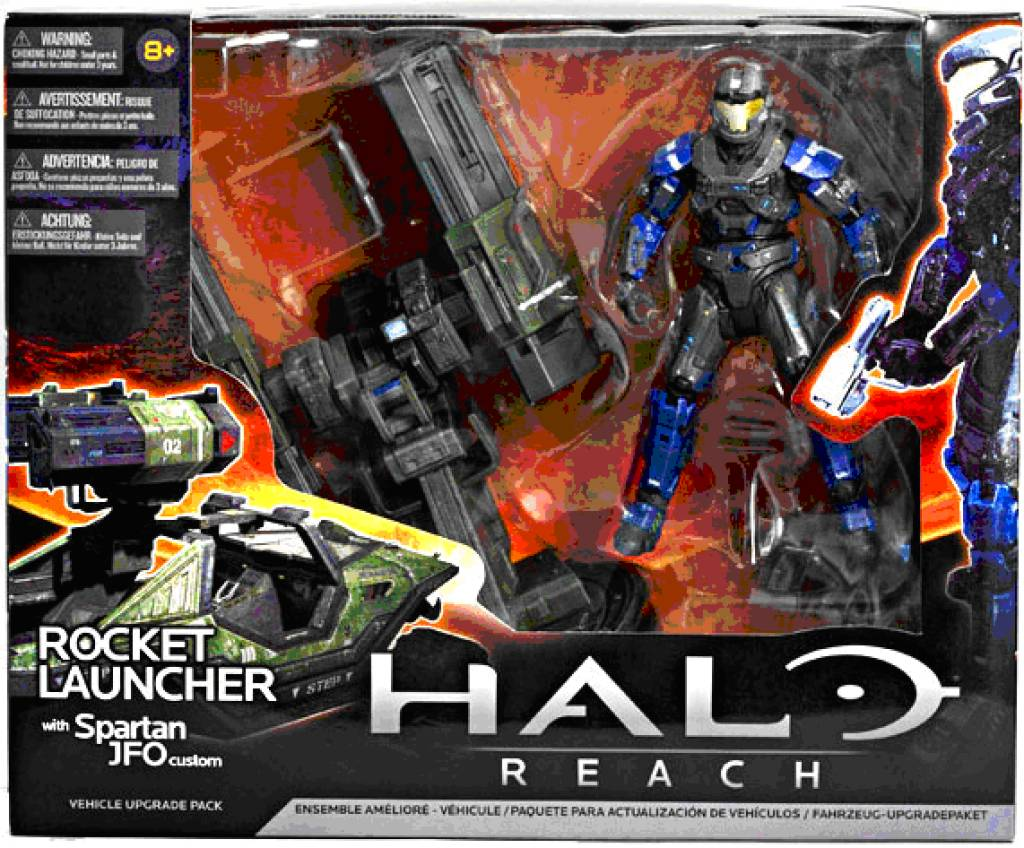 Halo Reach Series 3 Spartan JFO Exclusive Action Figure rouille orange