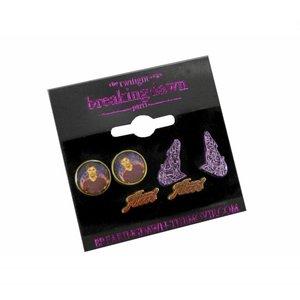 Twilight Breaking Dawn Earrings 3-Pack Team Jacob